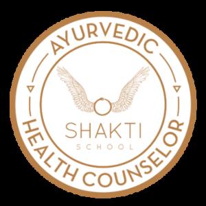 Ayurveda Health Counsellor Shakti School Badge